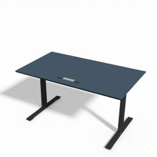 Delta hæve-sænke bord i blå linoleum