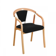 Anna klassisk polstret mødestol