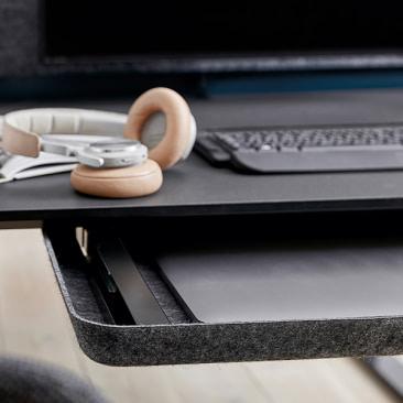 Filt skuffe til montering under skrivebord