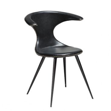 Dan-Form Flair Spisebordsstol i sort læder