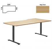 Delta hæve sænke bord 220x115cm. bøg finer