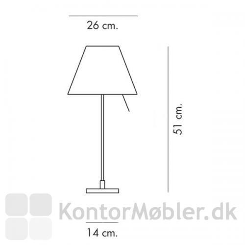 Stregtegning af Costanzina bordlampe fra Luceplan