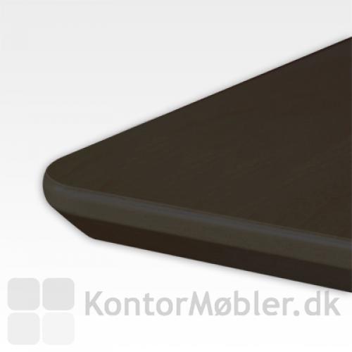22 mdf plade i sort laminat med affaset kant
