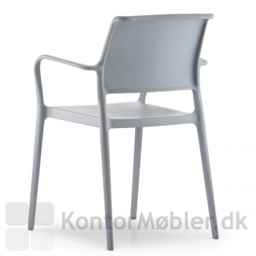 Lys grå ARA stol med armlæn