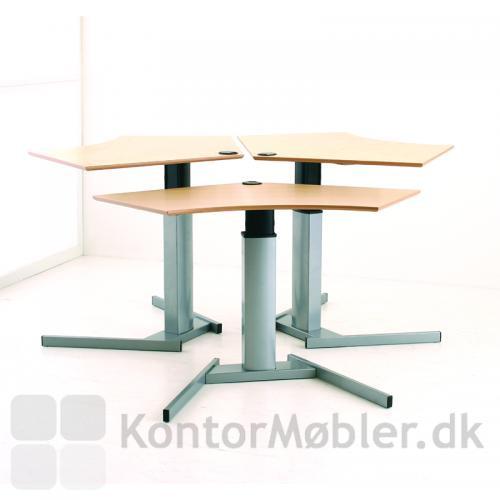Consets 501-19 basis hæve sænke bord er velegnet som kontor-ø