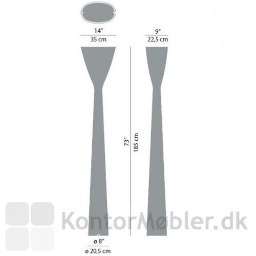 Carrara D38 har en højde på 185 cm og en omkreds på 20,5 cm