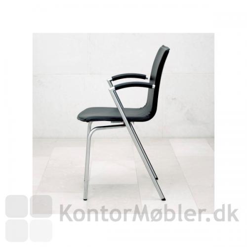 G2 mødestol i sort læder