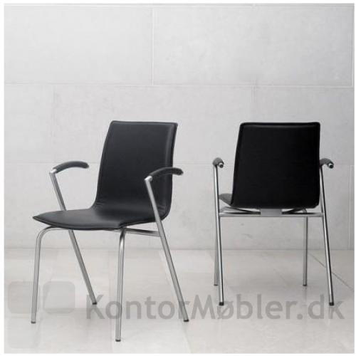 G2 mødestol med sort læder
