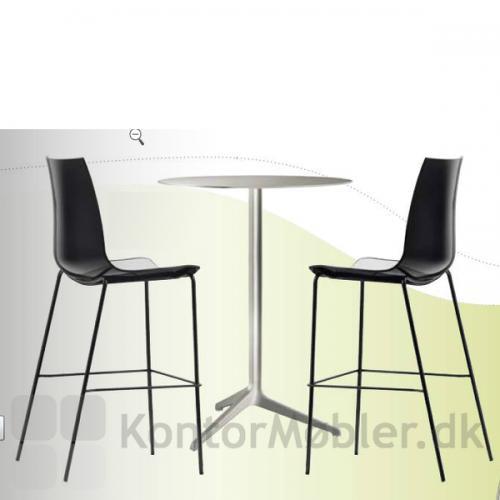 Cafébord i stål (søjlen er ikke en model vi tilbyder her på siden)