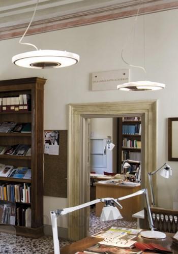 Light Disc Pendel med metal ramme