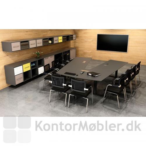 Delta konferencebord med Skin mødestole