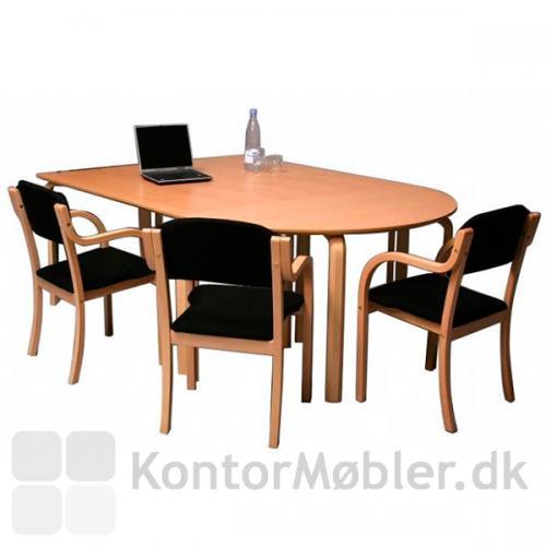 Tina mødestol i mødearrangement. Stel i bøgefinér