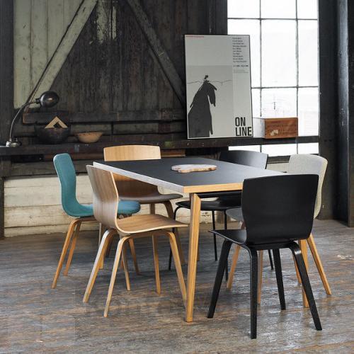 Butterfly Wood mødestol med flere kombinations muligheder