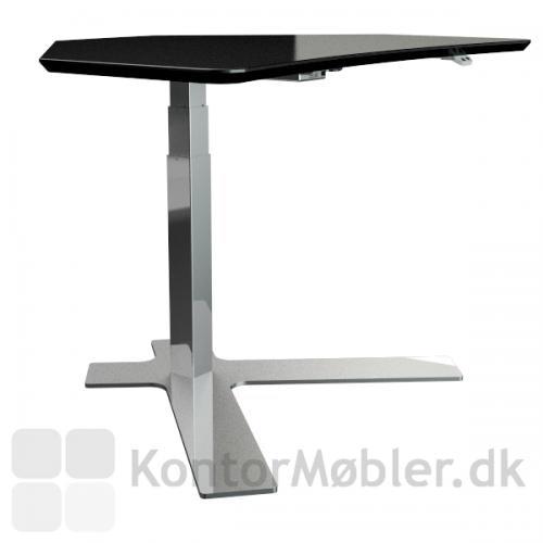 Profilbillede af det enkel-søjlede hæve sænke bord fra Dencon med 110x80 plade