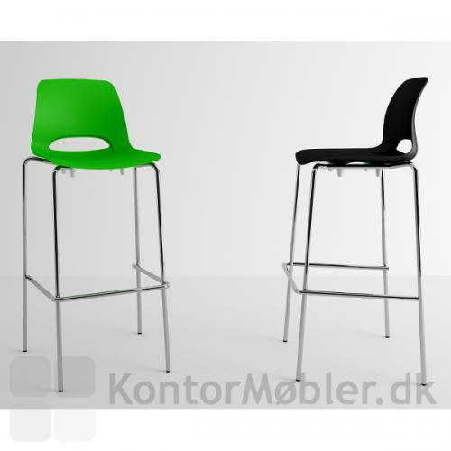 Frigg barstol i grøn og sort