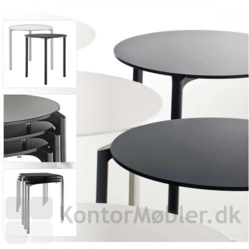 Jump cafébord, kan fåes med rund eller kvadratisk bordplade