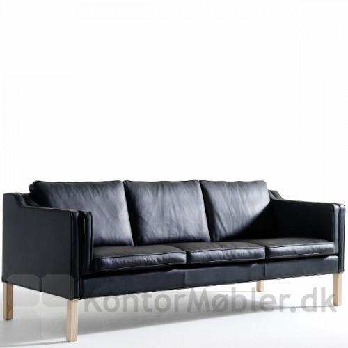 Eton sofa til 3 personer i sort læder