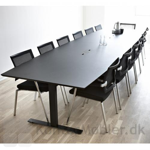 Konferencebord fra Delta i Antracitgrå linoleum med plads til 13