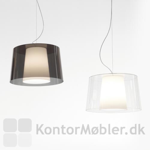 Look loftlampe med transparent yderskærm