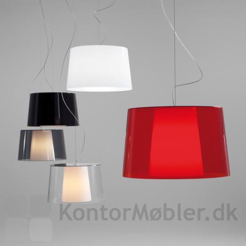 Look loftlampe med yderskærm i flere farver