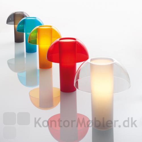 Colette bordlampe med skærm i transparente farver