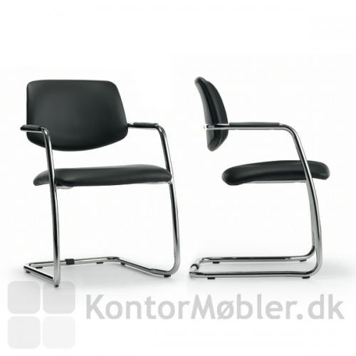 Free gæstestol med Skai stof på sæde og ryg