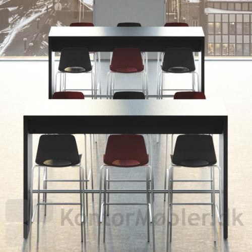 Frigg barstol passer perfekt til Dencon højbord