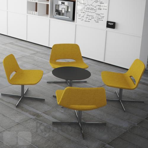 Frigg Lounge stol giver indretningen et levende udtryk