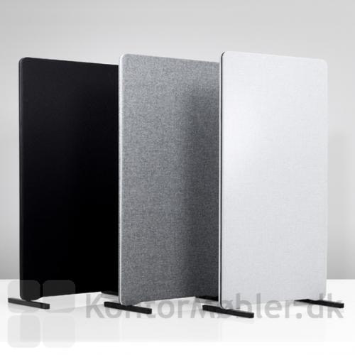 Edge skærmvægge med T-fod Blade i sort aluminium