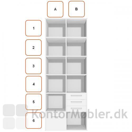 Arkivskuffemodul placeret i A6