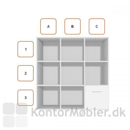 Arkivskuffemodul placeret i C3