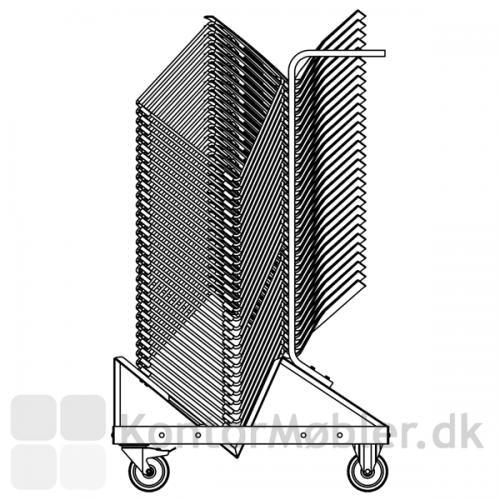 Transportvognen har plads til op til 35 stole fra Four Design