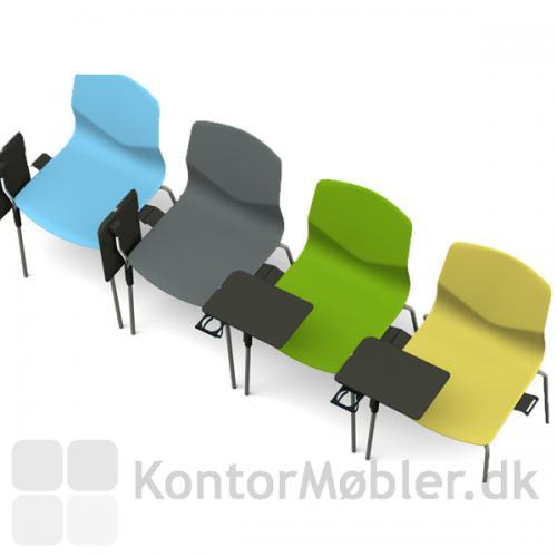 Inno®Note bordet kan foldes sammen, så det er let at rejse sig fra stolen