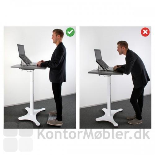 Gymba hjælper dig med at stå korrekt mens du arbejder