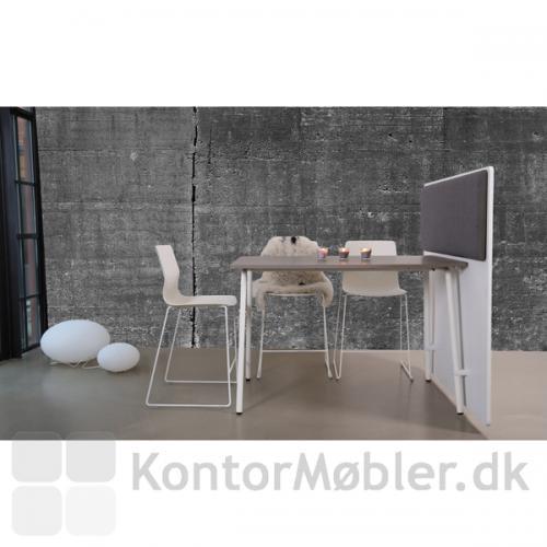 Four Real 90 højbord med bordplade i stengrå nano-laminat