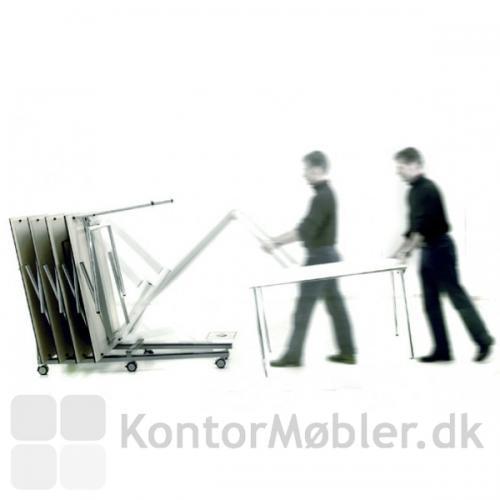 Bordvogn til nem opbevaring af borde fra Four Design