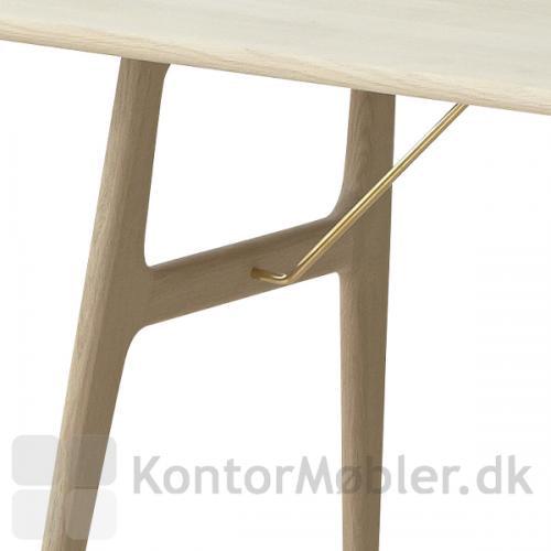 RM13 mødebord med messing tværstiver