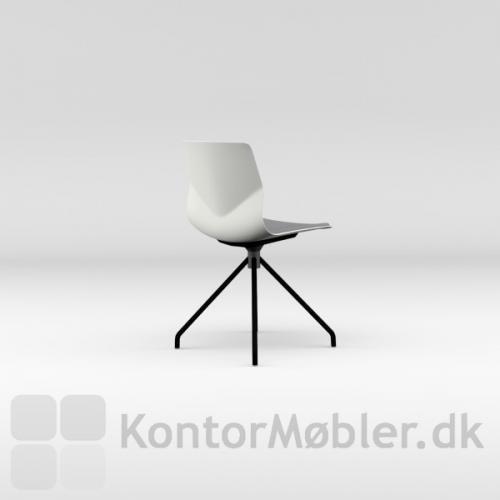 Four Sure 11 mødestol med hvid skal