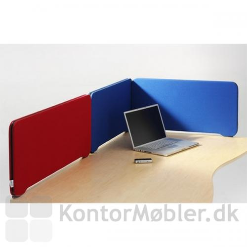 Edge skærmvæg sat sammen i forskellige farver