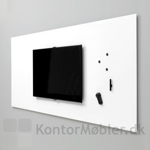 Air TV whiteboard med indbygget tv beslag