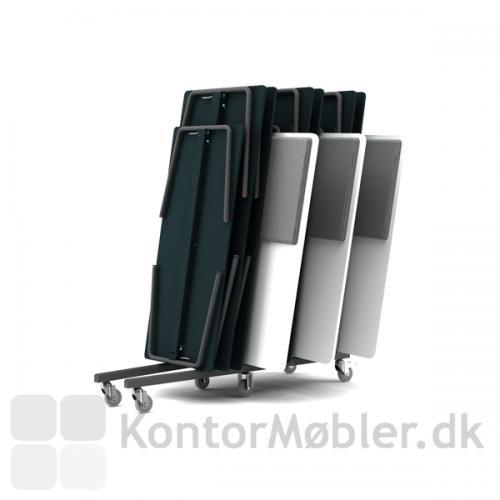 RinR rumdeler kan flyttes med bordvognen fra Four Design