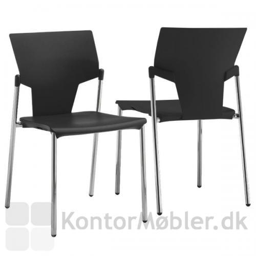 2 Aktiva stole den ene set fra front den anden fra bagsiden