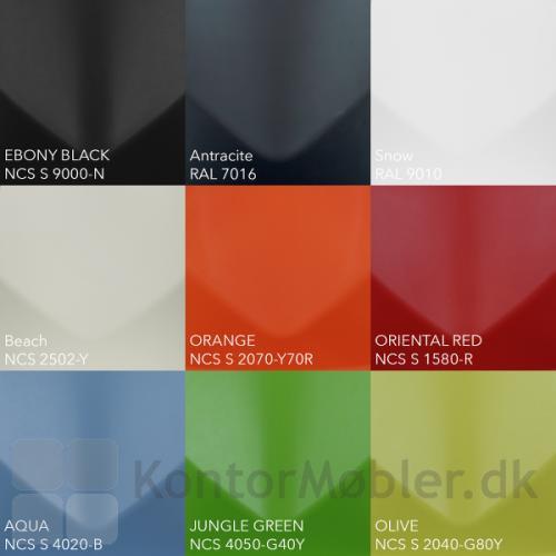 Four Sure stol kan vælges med skal i 9 farver
