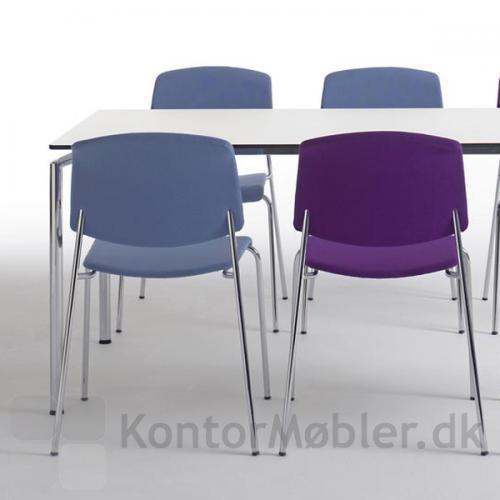 Pause mødestol med polstret sæde og ryg, er en flot stol