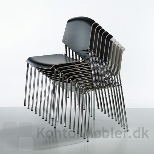 Pause mødestol uden polstring, kan stables med 10 stk