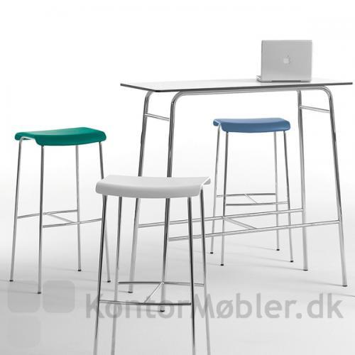 Pause barstol kan vælges i mange laminat og linoleums farver