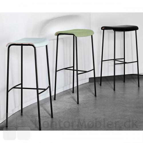 Pause barstol med sort stel