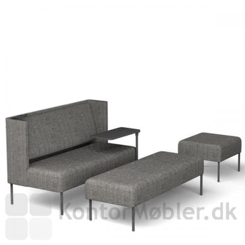 Four Us sofa med daybed og puf