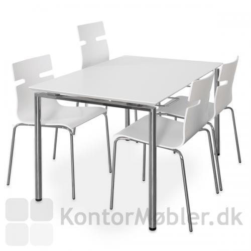 Zing bord i hvid med whisper stole