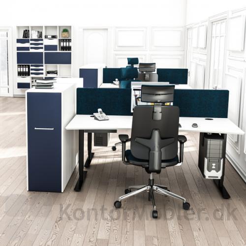 Delta hævesænkebord med hvid overflade